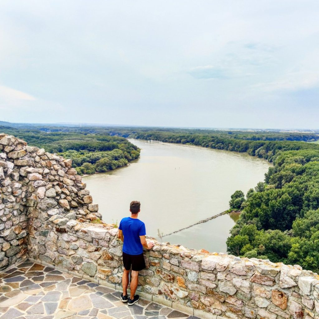 A view to Donau from Devin castle