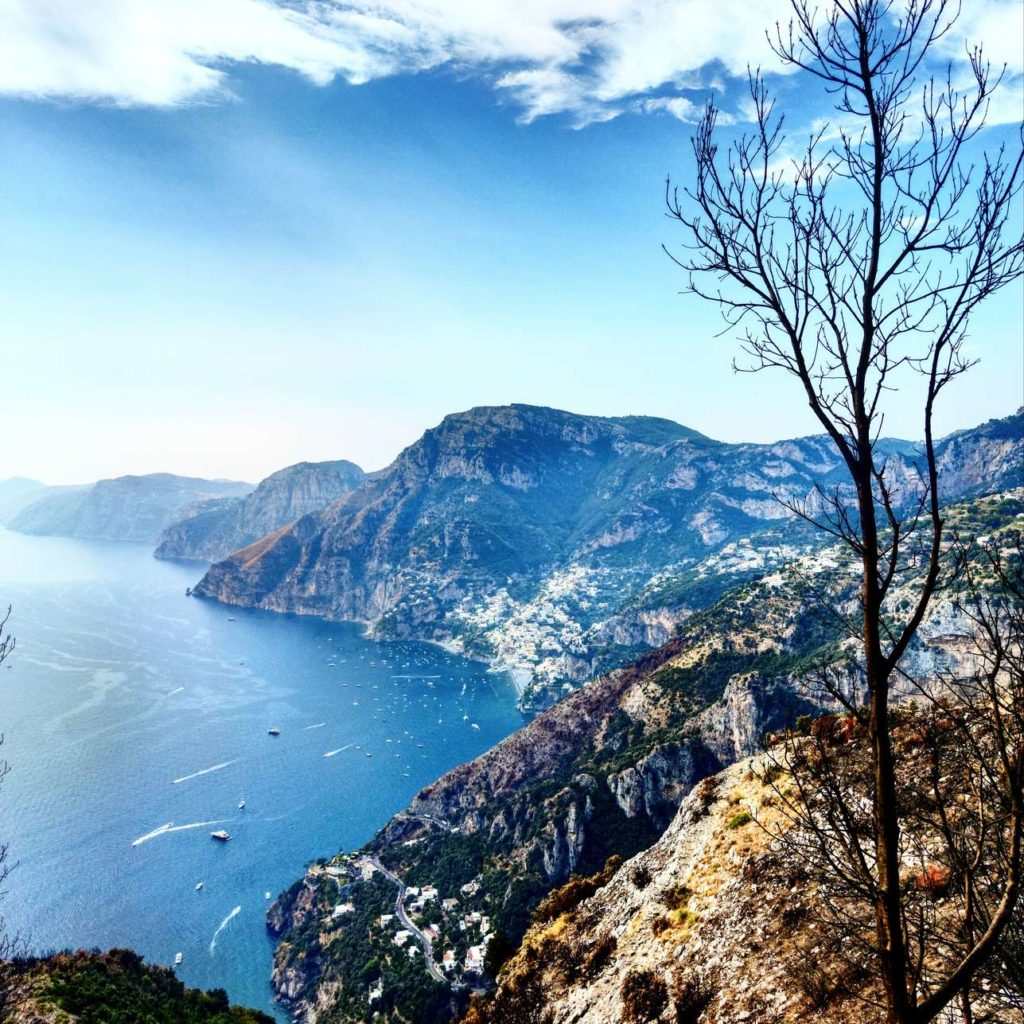 A view to Amalfi Coast from the Path of Gods