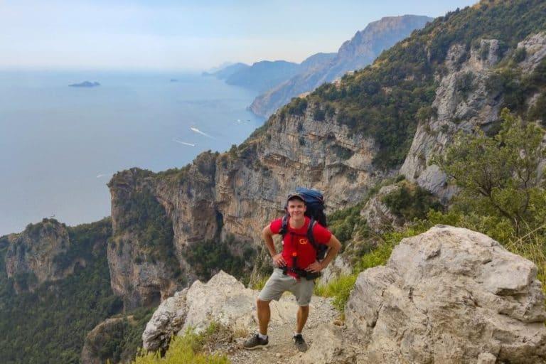 backpacking in amalfi