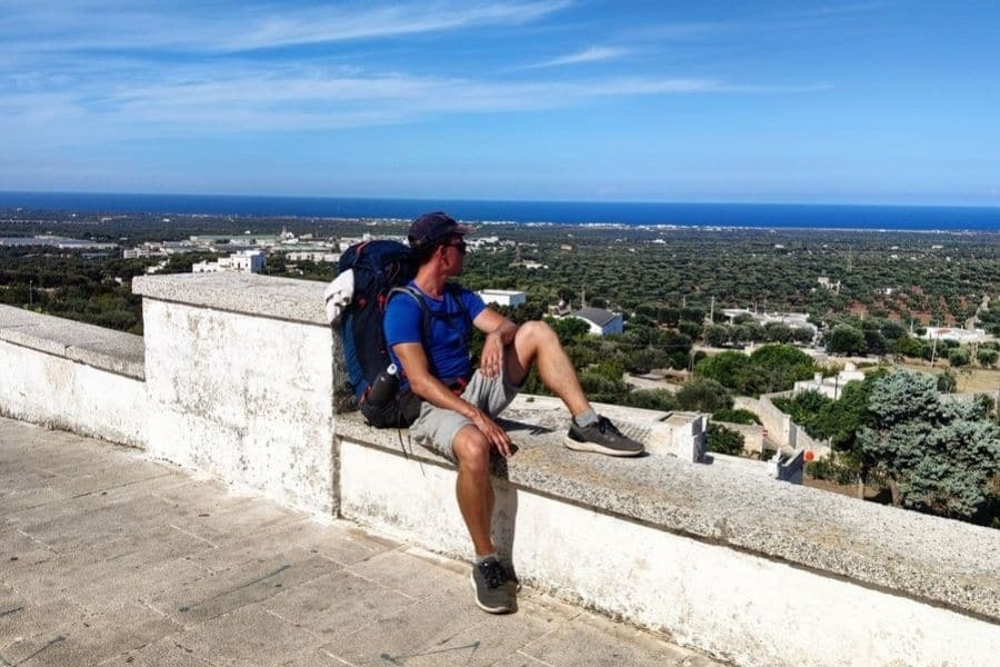 backpacking in puglia