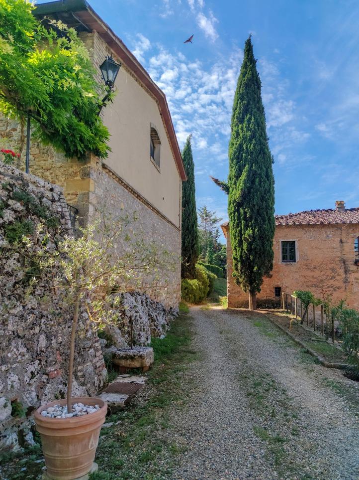 On the via Francigena. Italy's pilgrim road. Tuscany