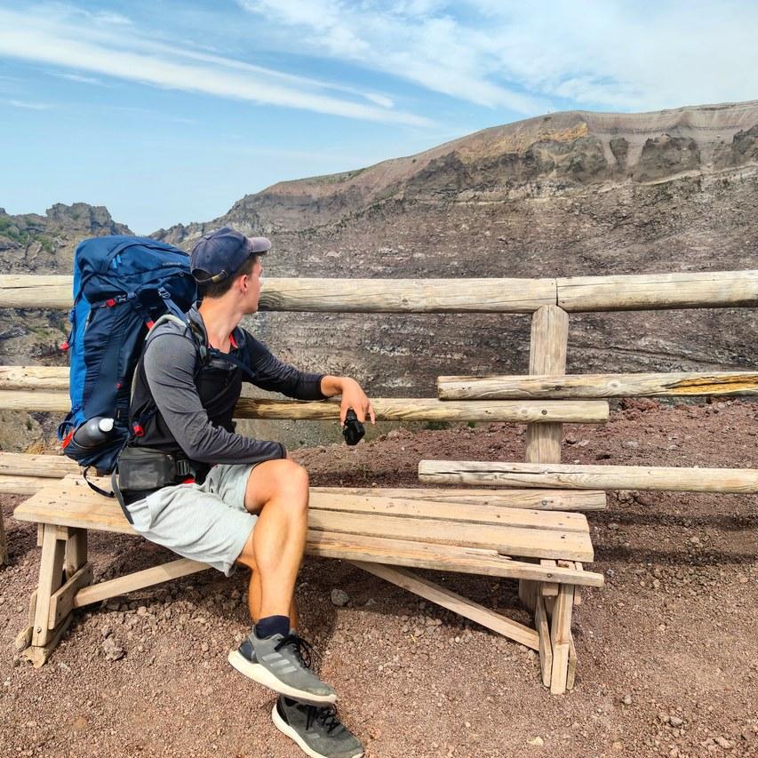 Looking to Vesuvius crater