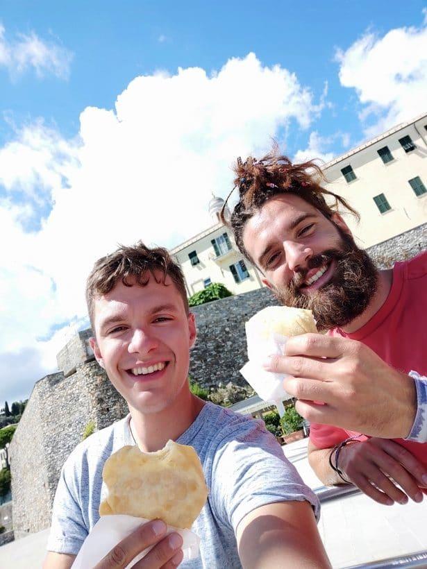 Me, Davide and focaccia
