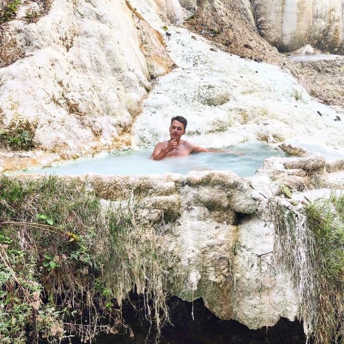 Bagni San Filippo thermal springs. Tuscany
