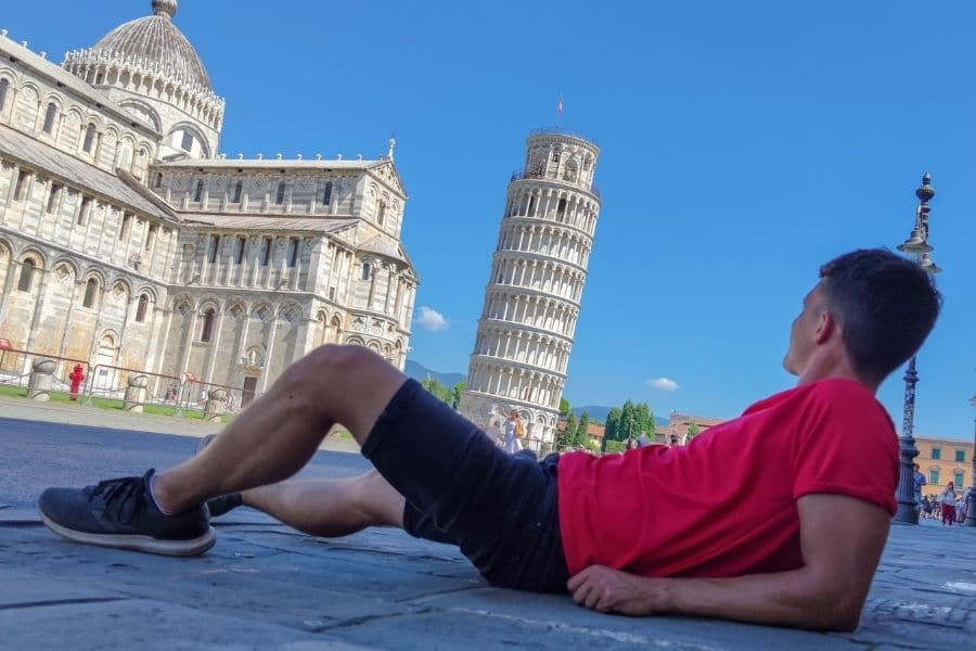 Pisa tower from different angle