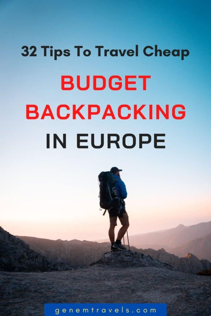 budget backpacking