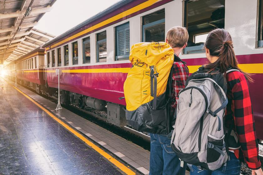 budget backpacking with train