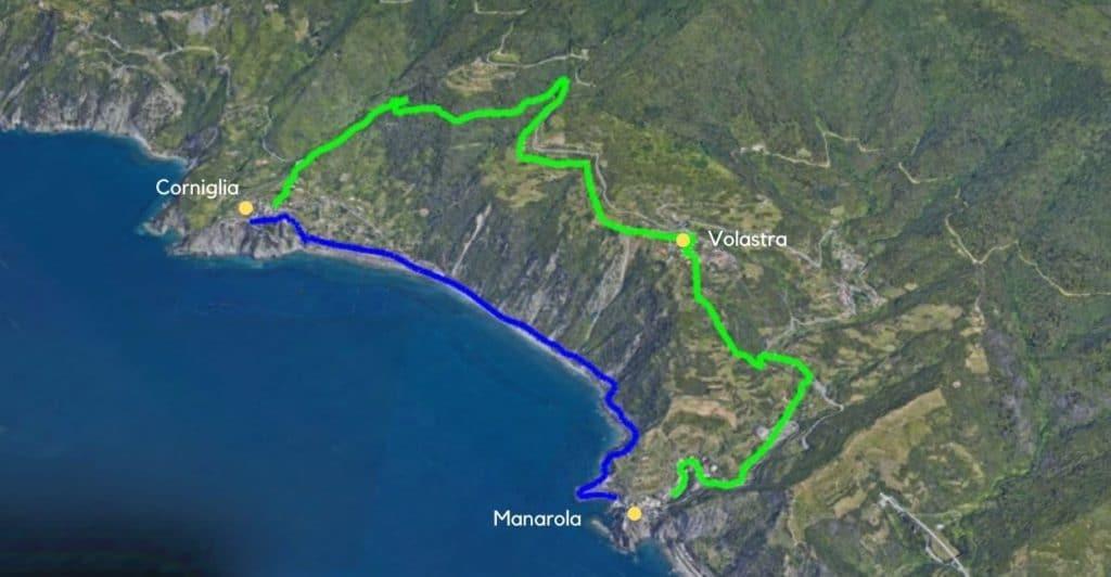 Corniglia to Manarola.
