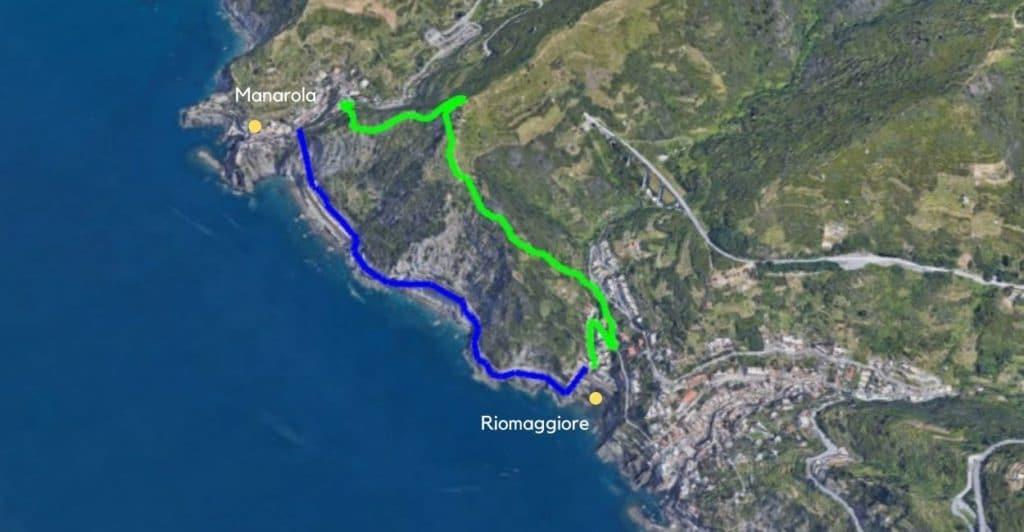 Manarola to Riomaggiore.