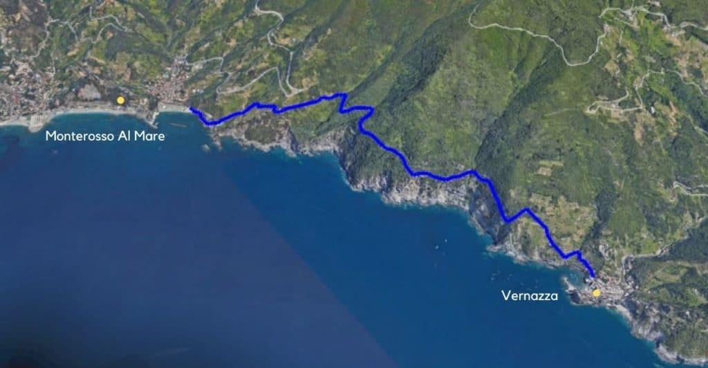Monterosso to Vernazza.