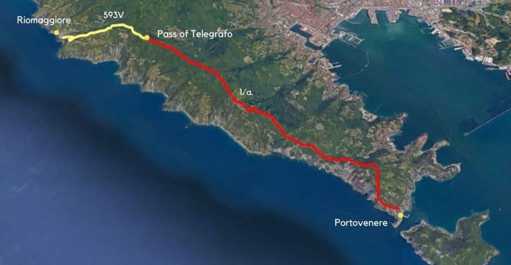 Portovenere to Pass of Telegrafo