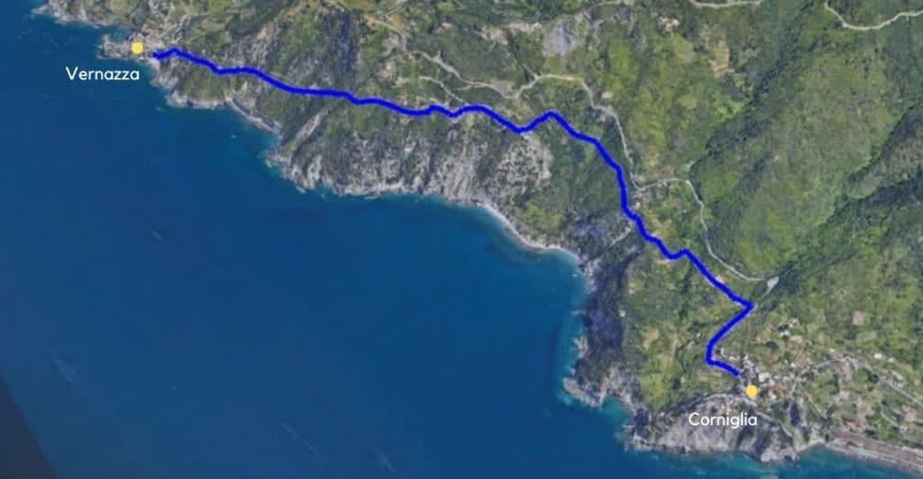 Vernazza to Corniglia.