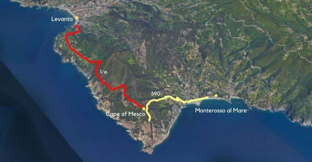 Cape of Mesco to Levanto hike