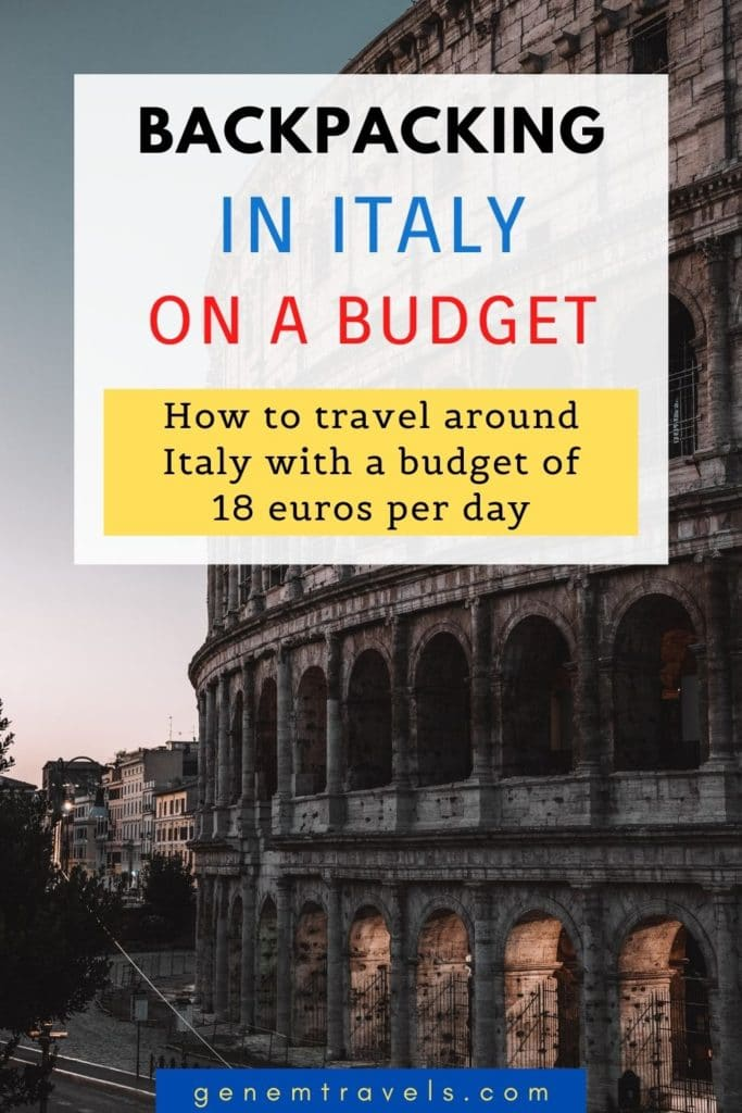 Backpackin Italy on a Budget