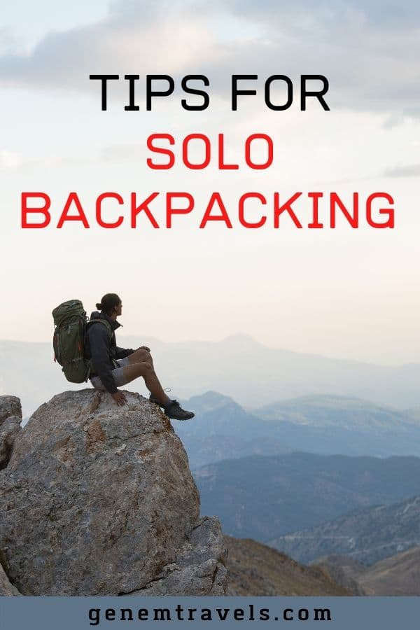 tips for solo backpacking