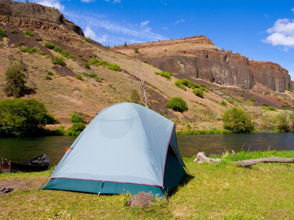 camping next to river